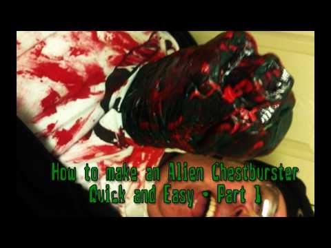 How to Make an Alien Chestburster for Halloween Quick and Easy Part 1