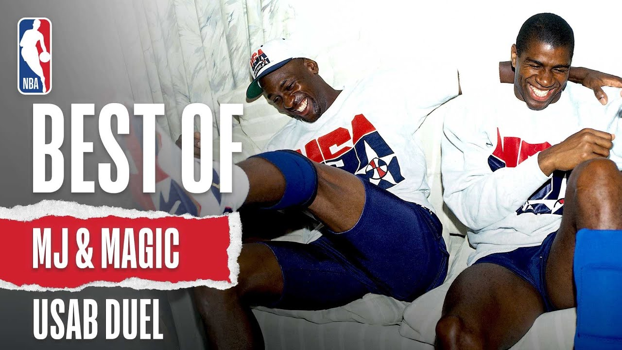Best of MJ & Magic's USAB Duel | The Jordan Vault