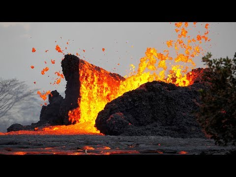 Scenes from the Volcanic Eruption in Hawaii: Lava, Ash and Toxic Fumes