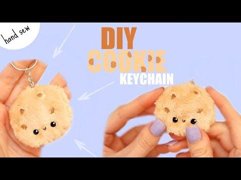 DIY PLUSH KEYCHAIN COOKIE   Easy Hand Sewing Tutorial