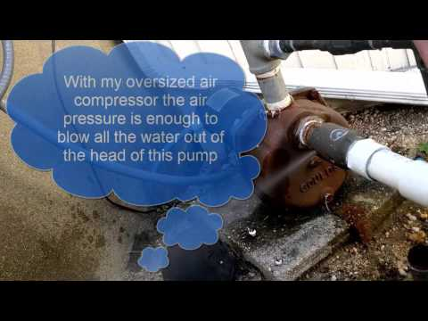 How to Winterize a Lawn Sprinkler Well Pump