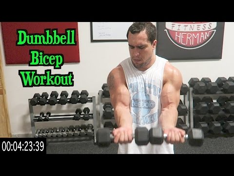 Intense 5 Minute Dumbbell Bicep Workout