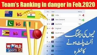 Team's Ranking in danger in Feb.2020   ICC Ranking updates   Pak vs BD   India vs New Zealand 2020