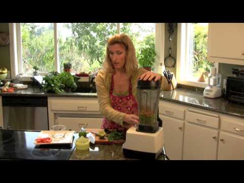HD Healthy Snack Recipe for Avocado Cilantro Hummus from TheDeliciousRevolution.com