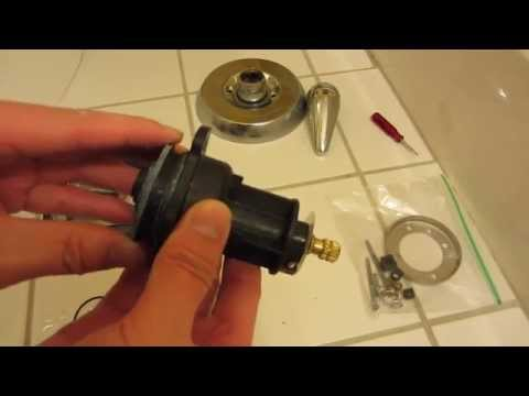 Kohler Shower Repair in HD Part 2 - Close-up of Replacement Parts