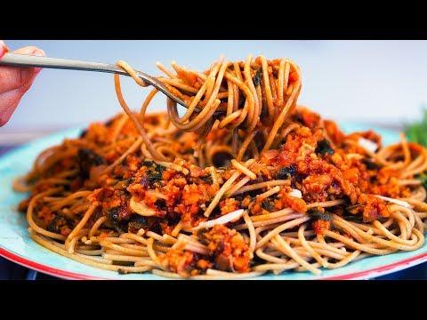 Vegan Spaghetti Bolognese - Healthy High Protein Recipe