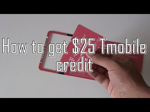 how to get free 25 dollar tmobile referral!