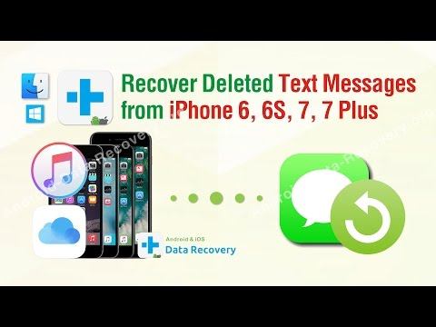 Recover Deleted Text Messages from iPhone 6, 6S, 7, 7 Plus