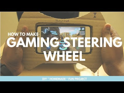 How to Make Steering Wheel For Mobile, Gaming Wheel, DIY Steering Wheel, Level Up Gaming Skills