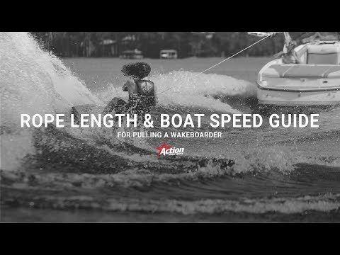 Wakeboarding Rope Length & Boat Speed Guide | Action Water Sports