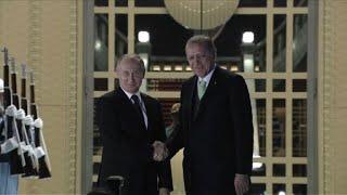Putin arrives for talks with Erdogan in Ankara