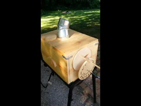 Wooden Homemade Direct Flame Coffee Roaster