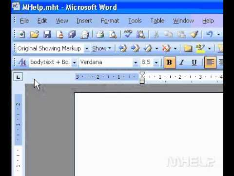 Microsoft Office Word 2003 Show or hide the Reviewing Pane