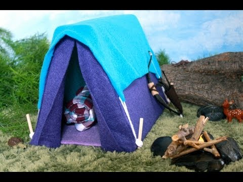 How to Make a Doll Tent - Doll Crafts