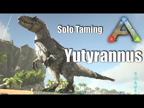 Ark: SE - Solo Taming a Yutyrannus | Guide on Dino Taming