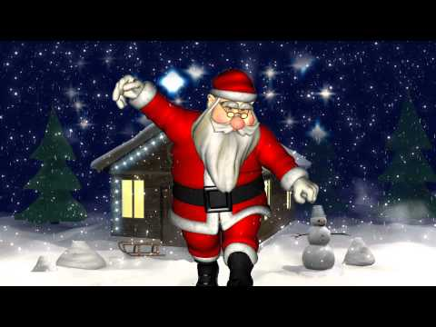 SmoochGrams.com eCard - Dancing Santa sends you a Christmas Smooch