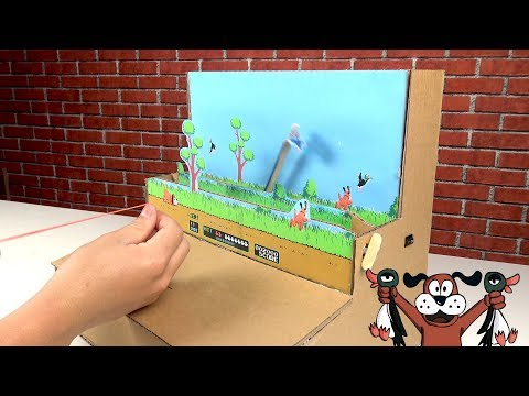 How to make Amazing Game DUCK HUNT from Cardboard - [No.8] Amazing Game from Cardboard