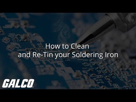 How to Clean and Re-Tin your Soldering Iron