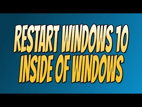 How To Restart Windows 10 Without Restarting Your PC Tutorial