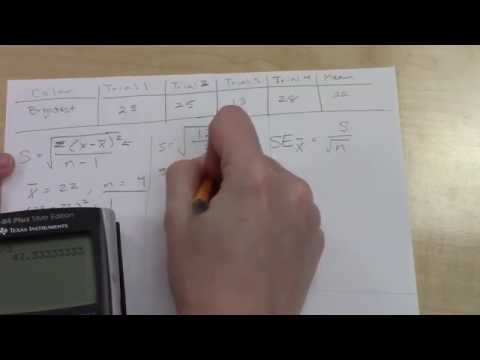 How to Determine Standard Deviation and Standard Error of the Mean