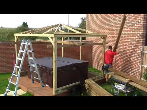 3m Gazebo Build over Hot Tub in Trowbridge Wilts