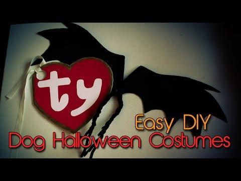 Dog Halloween Costumes | DIY | Bat Wings & Beanie Baby Tag | Creation in Between