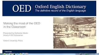 Making the most of the Oxford English Dictionary in the classroom (US version)