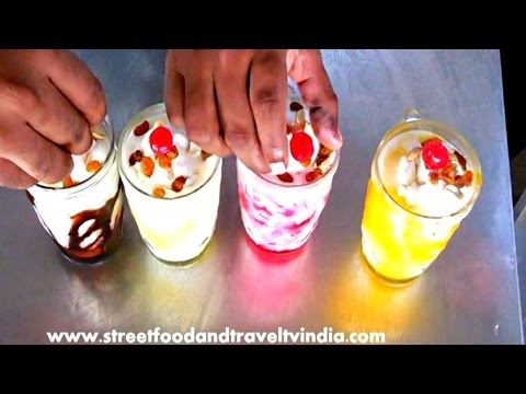 Lassi making Most Popular Indian Sweet or Dessert Drink | Street Food India.