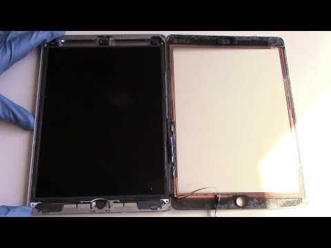 iPad Air Screen Repair Glass Replacement Video Tutorial How To