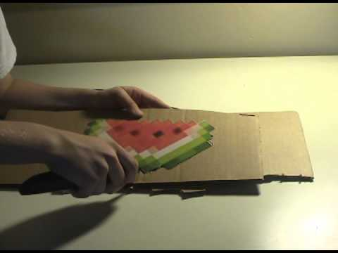 How to make - Minecraft watermelon cutout