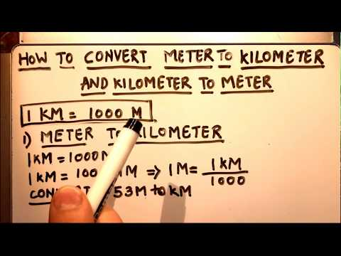 HOW TO CONVERT (METER TO KILOMETER) AND (KILOMETER TO METER.)