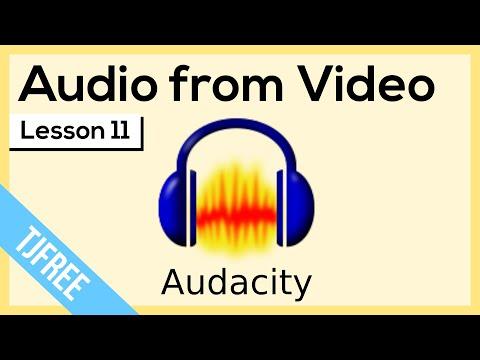 Audacity Lesson 11 - Edit a Videos Sound Audio
