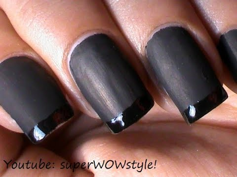 Black Matte Nail Polish Deigns + How to Make Matte Polish at Home?!