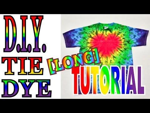 DIY Tie Dye Rainbow Heart Shirt [How to Long Tutorial] #27
