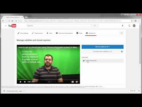 How to fix the automatic closed captioning on a youtube video 2017