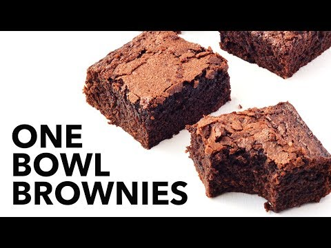 Easy One Bowl Cocoa Brownies