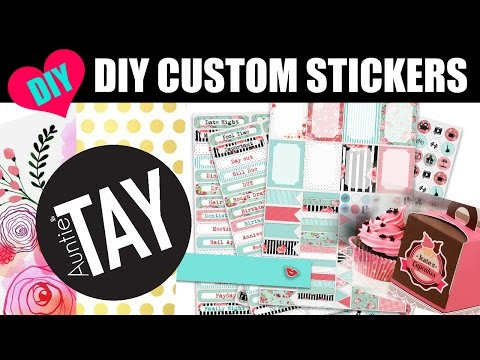 DIY Custom Stickers with the Cricut Explore Air