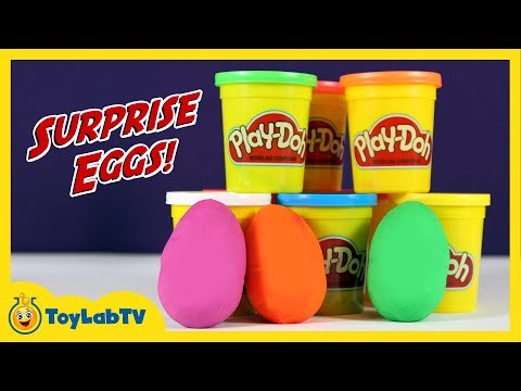 Play Doh Surprise Eggs with Jake & the Neverland Pirates Toys