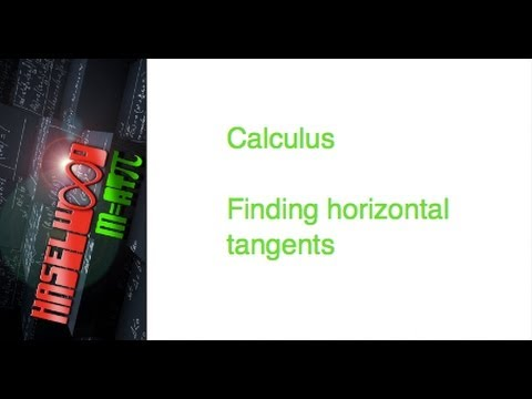 Calculus - 3.1-3.4 Review: Find Horizontal Tangents