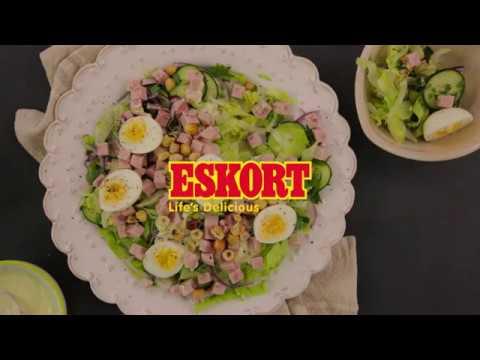ESKORT: Lettuce, egg and ham salad