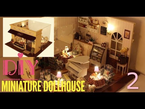 Love Melody Part 2(Miniature DollHouse Kit DIY Tutorial/with Working Lights 5)