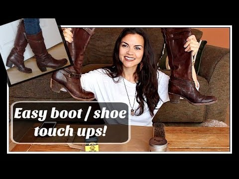 How to touch up boots / shoes - No cobbler required - Fast and easy!