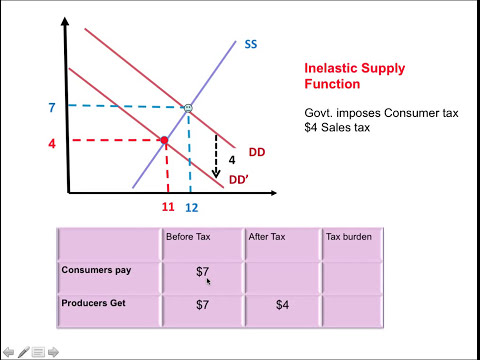 Sales Tax- Elasticity & Tax Burden (Tax incidence)