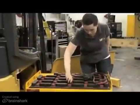 Forklift Battery Extraction
