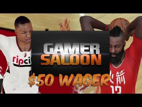 NBA 2K15 Online Ranked Match - $50 WAGER! - Damian Lillard NASTY POSTER! GamerSaloon Wager Match!