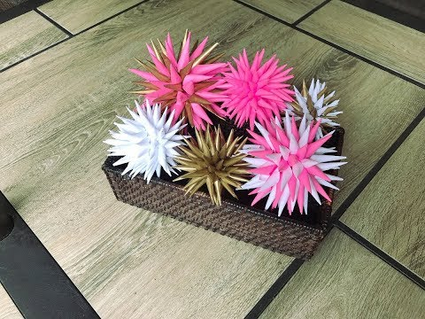 How to make a paper spiky ball decorative