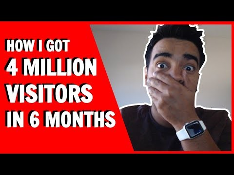 How To Get More Traffic To Your Website | 4+ Million Visitors in 6 months