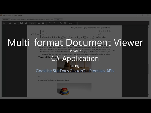 How to display PDF and Office documents in your .NET Application using StarDocs