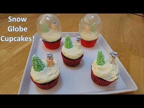 How to Make Edible Snow Globe Cupcakes - Christmas Cupcakes!