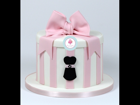 How to Decorate a Hat Box Design Cake with Dress Motif by Ceri Badham